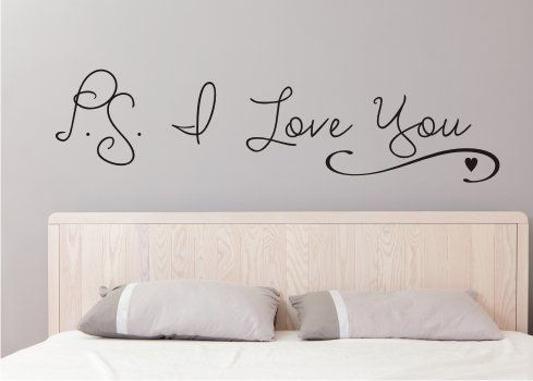 P.s. I Love You Vinyl Wall Decal, Quote, Sticker, Words