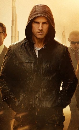 Leather Hoodie From Mission Impossible 4 Movie By Tom Cruise