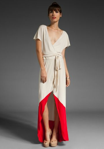 Love the dress, but I would do a much more casual shoe & dress up that gaping neckline with some spicy color!  #fashion