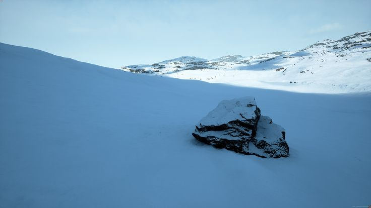 [UE4] Snow Landscape [WIP], Alireza Khajehali on ArtStation at https://www.artstation.com/artwork/RNRQE