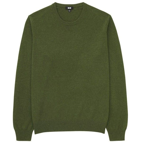 100% Cashmere Crew Neck Sweater ($88) ❤ liked on Polyvore featuring men's fashion, men's clothing, men's sweaters, green, mens green sweater, mens crew neck sweaters, mens cashmere sweaters, mens sweaters and mens crewneck sweaters