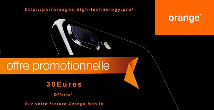 Parrainage Orange Mobile : Recevez 30€ en avoir sur votre facture !