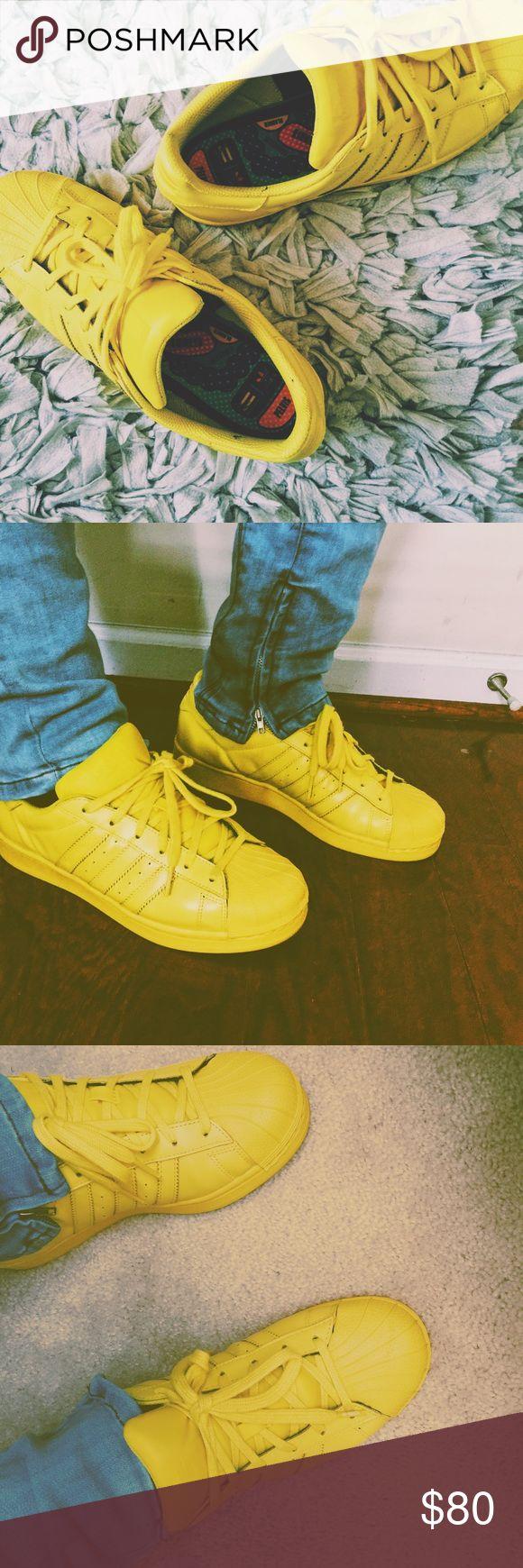 Adidas pharell superstar shell toe yellow