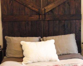 Handmade Cedar Barn Door Headboard
