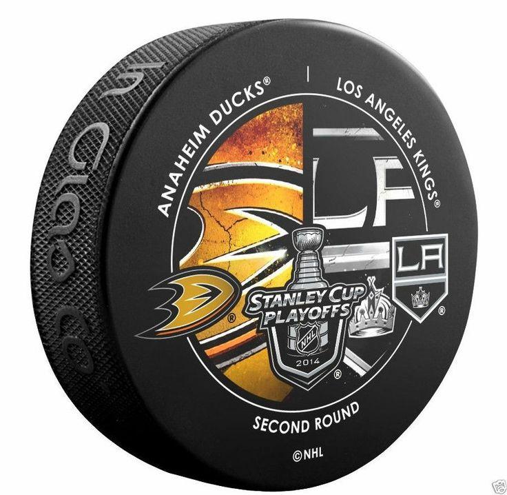 ANAHEIM DUCKS vs LOS ANGELES KINGS 2014 Playoffs Round 2 NHL DUELING LOGO PUCK