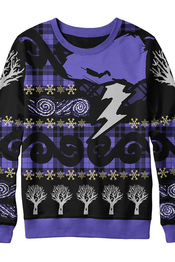 purple sweater + some other merch like i wouldn't mind