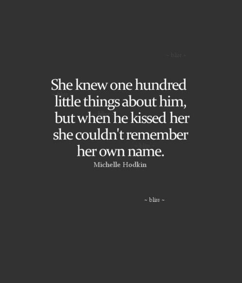 She Knew One Hundred Little Things About Him But When He Kissed Her She  Couldnu0027 Awesome Design