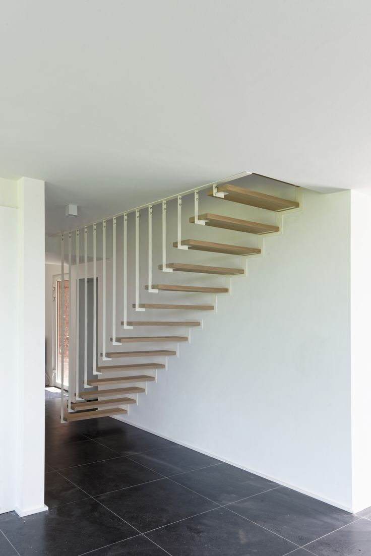 Jo-a designed and created an open suspended staircase for a new building.