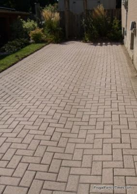 How to Make a Weed-free Brick Driveway (that Stays that way!)   Frugal Family Times
