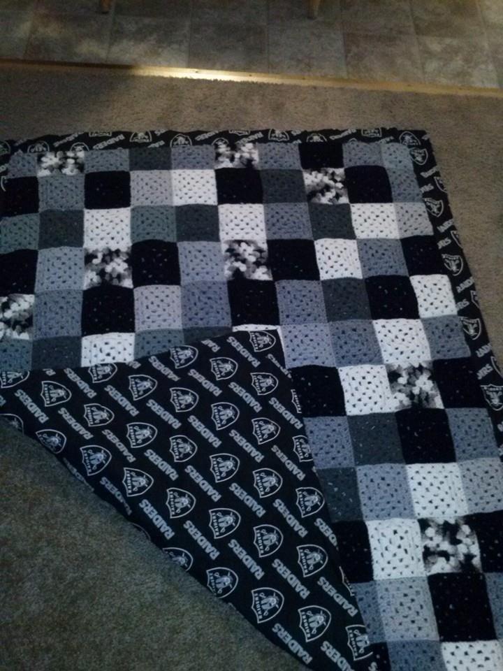Raiders Blanket Crocheted Items Pinterest Raiders