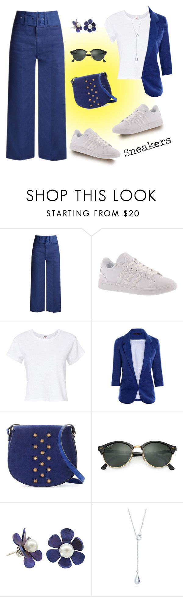 """Make it Look Easy ..."" by krusie ❤ liked on Polyvore featuring Sea, New York, adidas, RE/DONE, Neiman Marcus and Ray-Ban"
