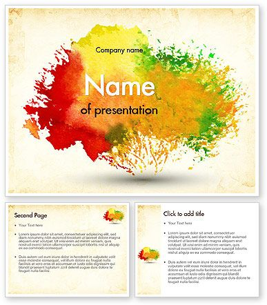 http://www.poweredtemplate.com/11414/0/index.html Colorful Watercolor Stains PowerPoint Template