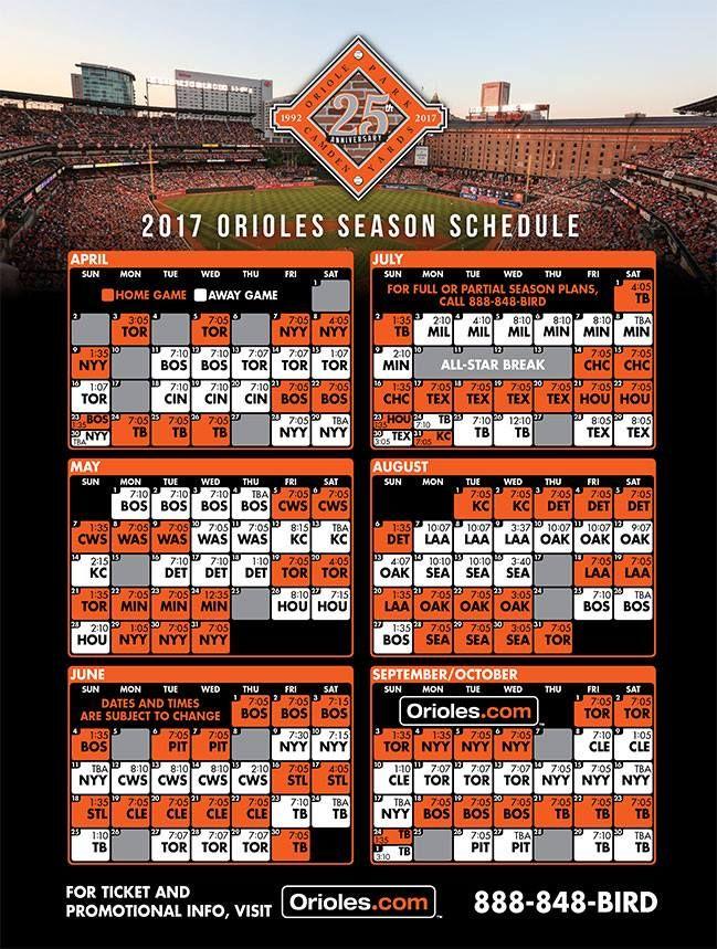 2017 Schedule...