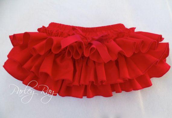 Parley hermoso rayo rojo con volantes cubierta de por ParleyRay