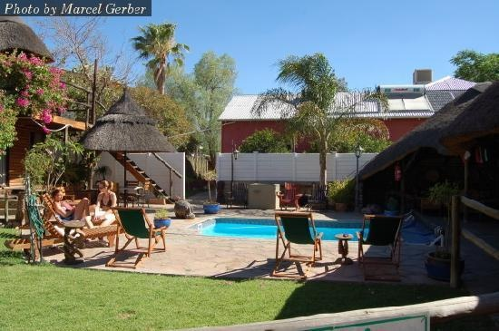 Chameleon Backpackers, Windhoek, Namibia. Been here, done that.