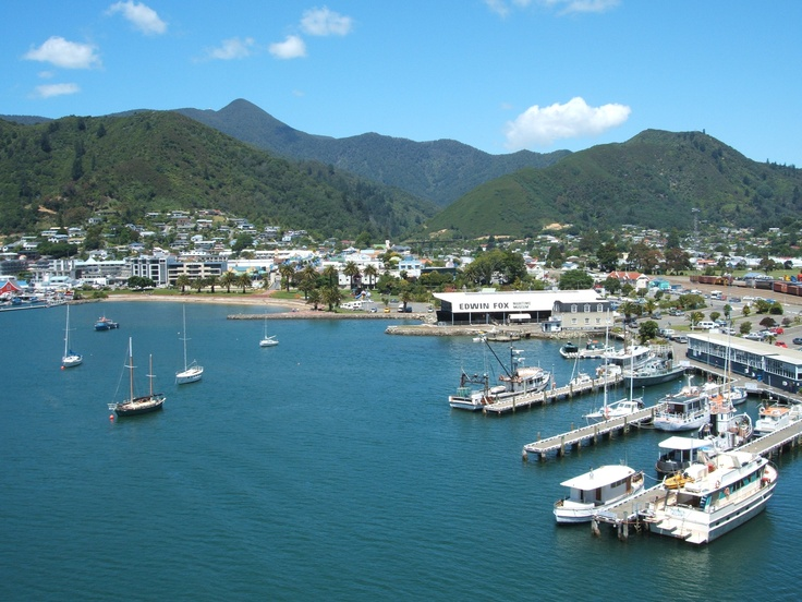 Picton, New Zealand gateway to the South Island... ferry terminal!