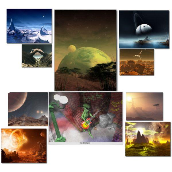 """Alien Worlds"" by zordbrix on Polyvore"