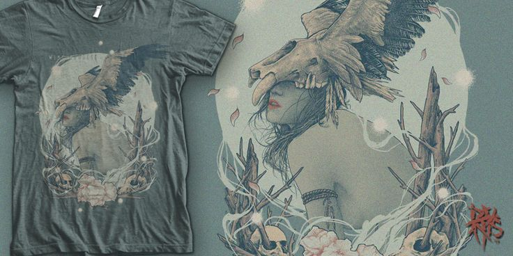 """""""Wing Goddess [ FOR SALE ]"""" t-shirt design by RectopusArt"""