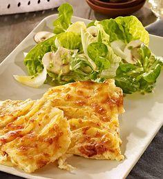 Schnelles Kartoffelgratin als Beilage zu Fleisch und Gemüse