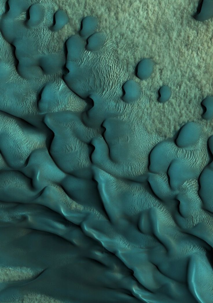Patterns on Mars surface