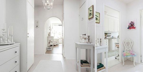 Ferah Bir Ev İsteyenlere: Beyaz Renk Hol Dekorasyonu
