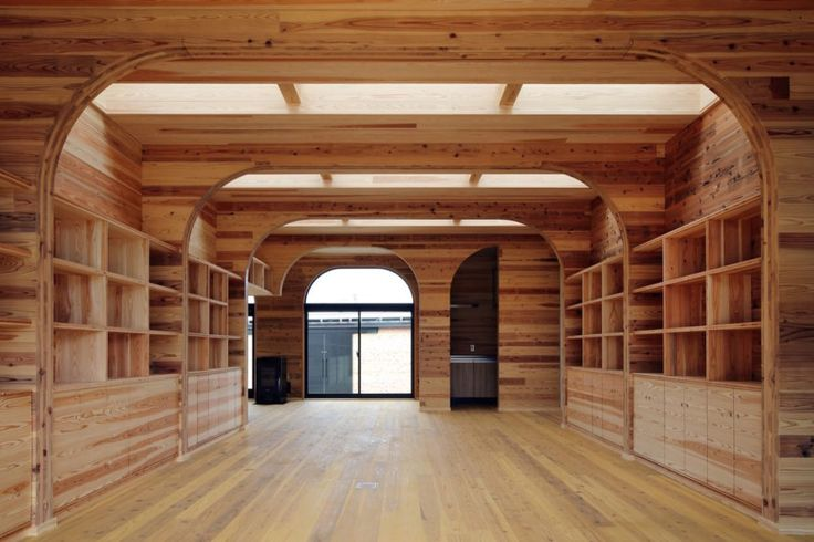 Junichi Kato & Associates shows off how the timber can be used as both a structural and finishing material in the Santo CLT Office.