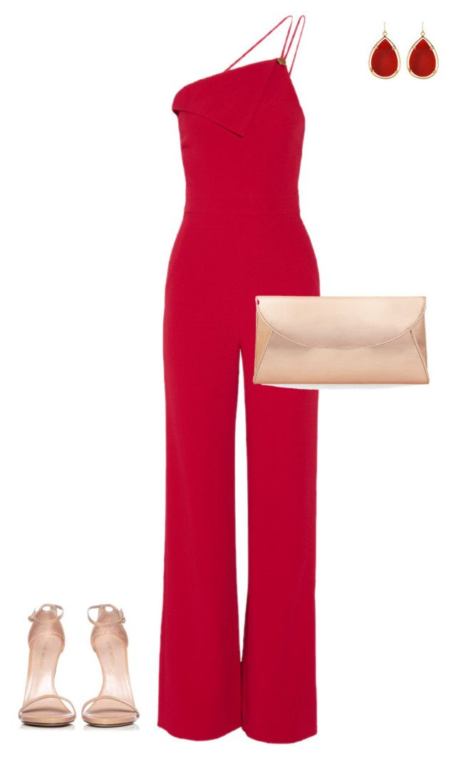 """""""Going Red"""" by sbags on Polyvore featuring Cushnie Et Ochs, Steve Madden, Barse and Stuart Weitzman"""