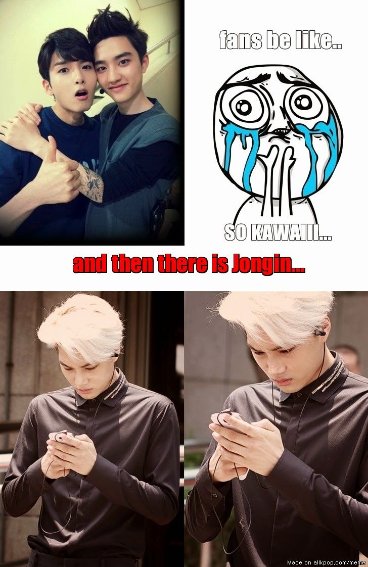 someone is jealous... Kaisoo! But you know Kai, that Wookie is almost like Kyungsoo's mom