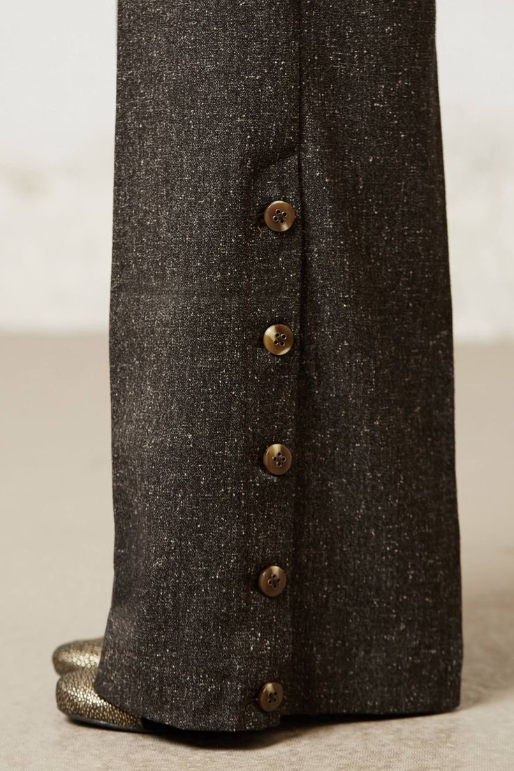 Loving the button detail on these Tweed Brighton Wide-Leg Pants.  Anthropologie