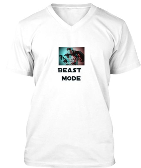 Beast   Mode White T-Shirt Front