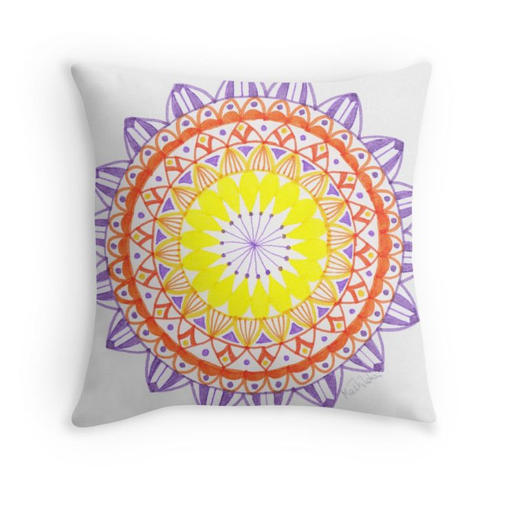 """Visit the shop and read all features of this #mandala. """"Mandala feel your emotions"""" Throw Pillows by mathistillday   Redbubble"""