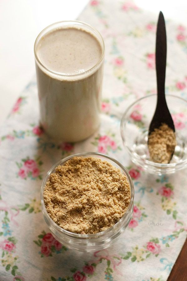 masala milk powder - a fragrant healthy powder that is added to milk, made with dry fruits and a few fragrant spices.