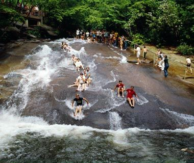 Sliding Rock, Brevard, NC... FUN!