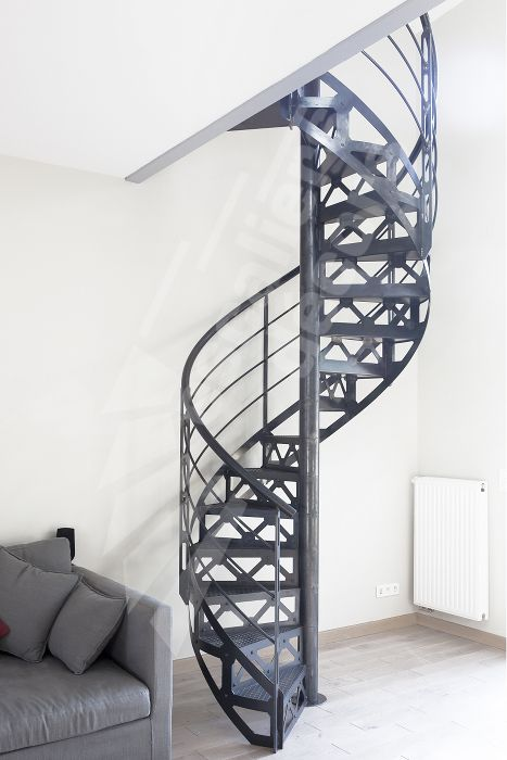 escalier m tal h lico dal de style industriel photo dh94 spir 39 d co san francisco marches. Black Bedroom Furniture Sets. Home Design Ideas