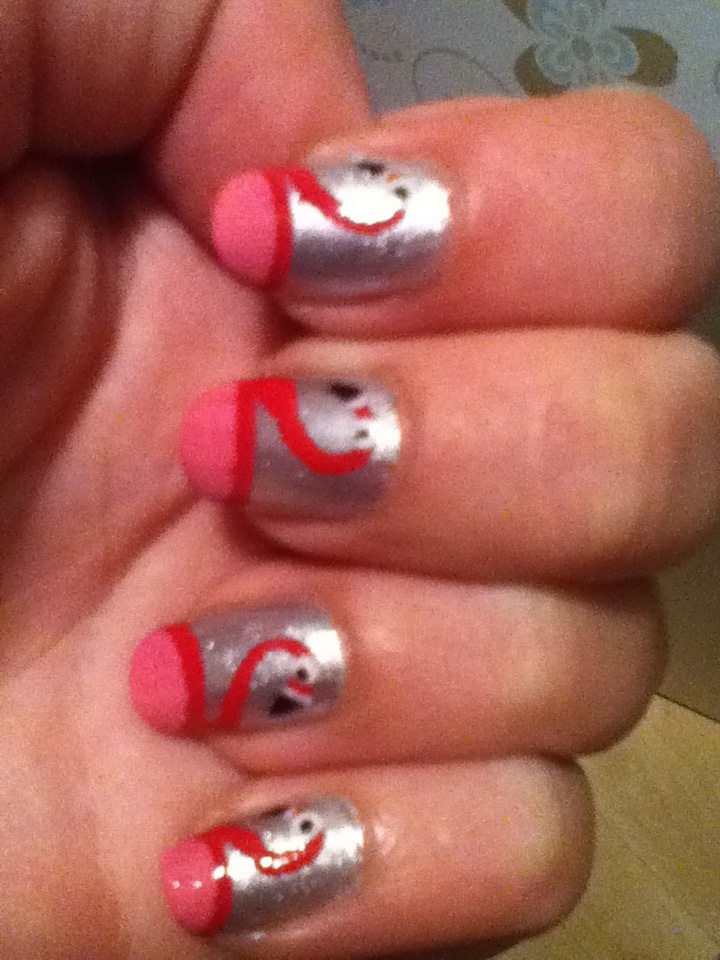 Flamingo nagels :)