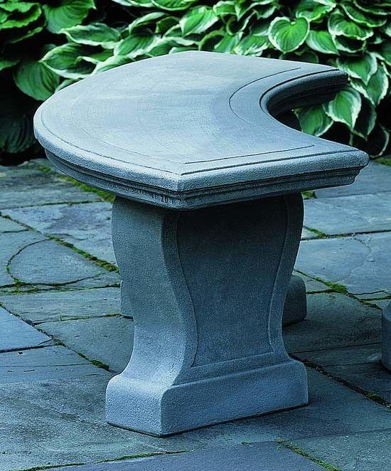 Palladio Cast Stone Garden Bench
