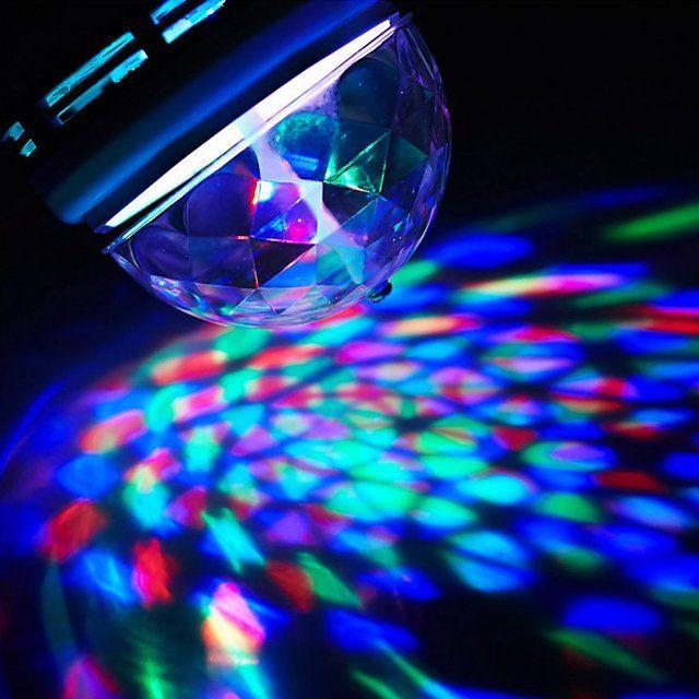 Rotating LED Disco Light Bulb - $4