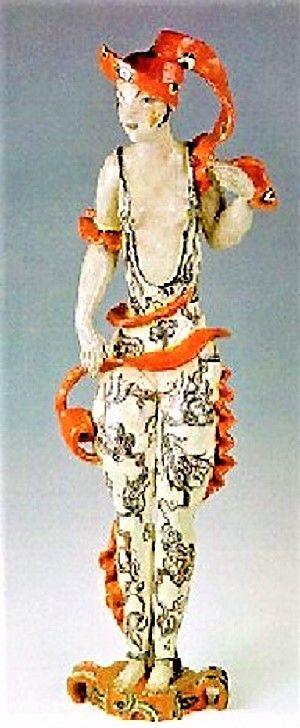 Vally Wieselthier (österreichisch, 1895 - 1945) Titel:     Frauenfigur , 1927 - 1927  Medium:     Ceramic Sculpture Größe:     93,5 cm (36,8 in)