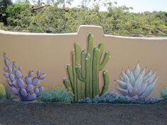 murals on backyard block walls - Google Search