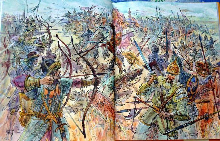 """Иллюстрация № 9 к книге """"Слово о полку Игореве"""", фотография, изображение, картинка"""