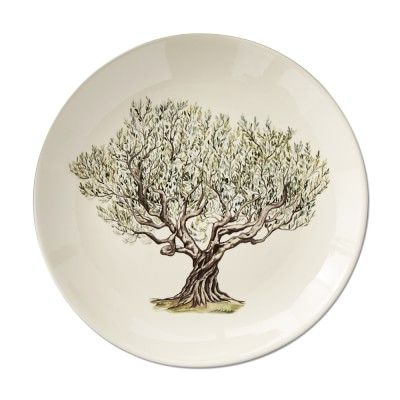 Napa Farmhouse Dinner Plates, Set of 4, Tree