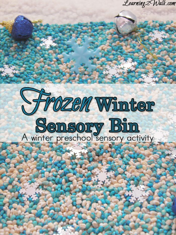 Frozen Preschool Sensory Activities- Winter Sensory Bin