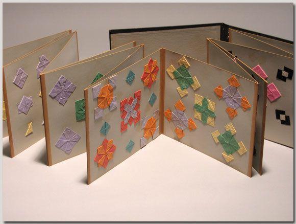 American kindergarten teacher's paper folding design album, circa 1885. Norman Brosterman Kindergarten Collection.