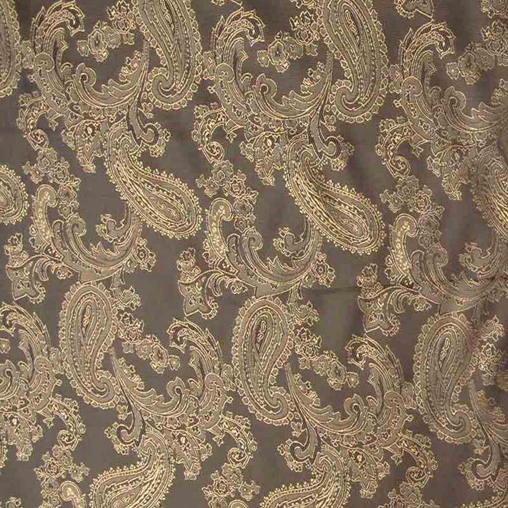 Paisley Poly Viscose Jacquard Fabric 15 Brown 146cm - Viscose Prints & Plains - Dressmaking Fabrics - Fabric