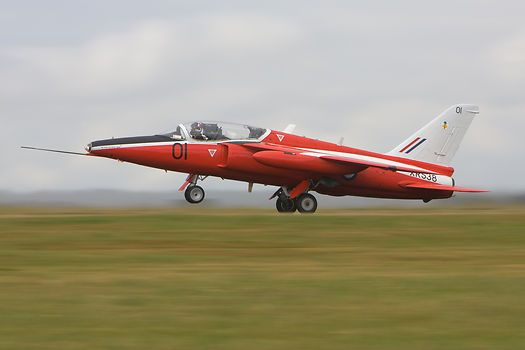 The Folland Gnat G-RORI taking off from Kemble during the 2004 Kemble Air Day