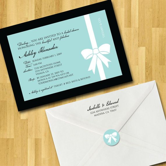 Bridal Shower Invitations 5x7 with Envelope by moncherdesigns, $55.00