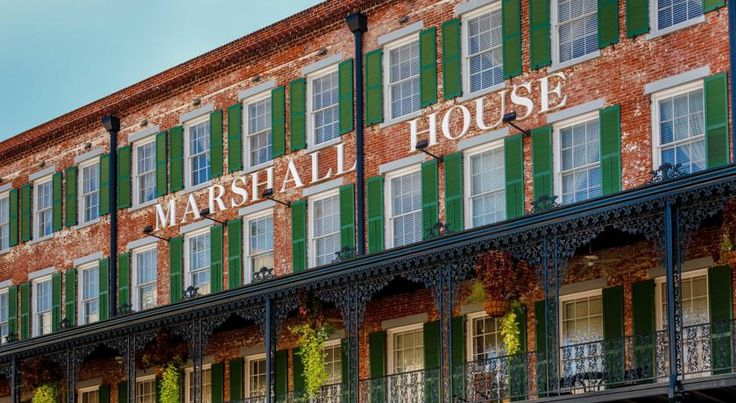 The Marshall House Savannah Located in the heart of Savannah's Historic District and built in 1851, this Georgia boutique hotel offers an on-site restaurant and free WiFi. The Savannah College of Art Design is 12 minutes' walk away.