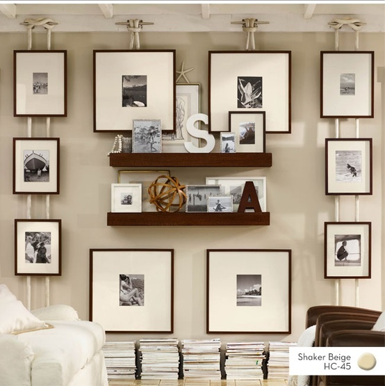 boat cleat and nautical rope gallery wall