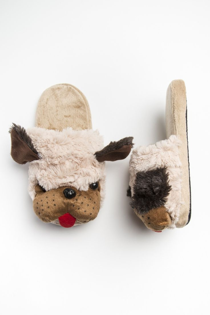 St. Bernard slip on fur slippers - Slippers - Footwear | Ardene Official Online Store