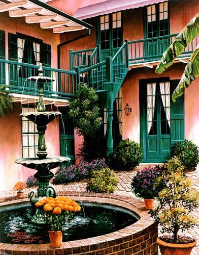 Patio Maison De Ville Brad Thompson New Orleans
